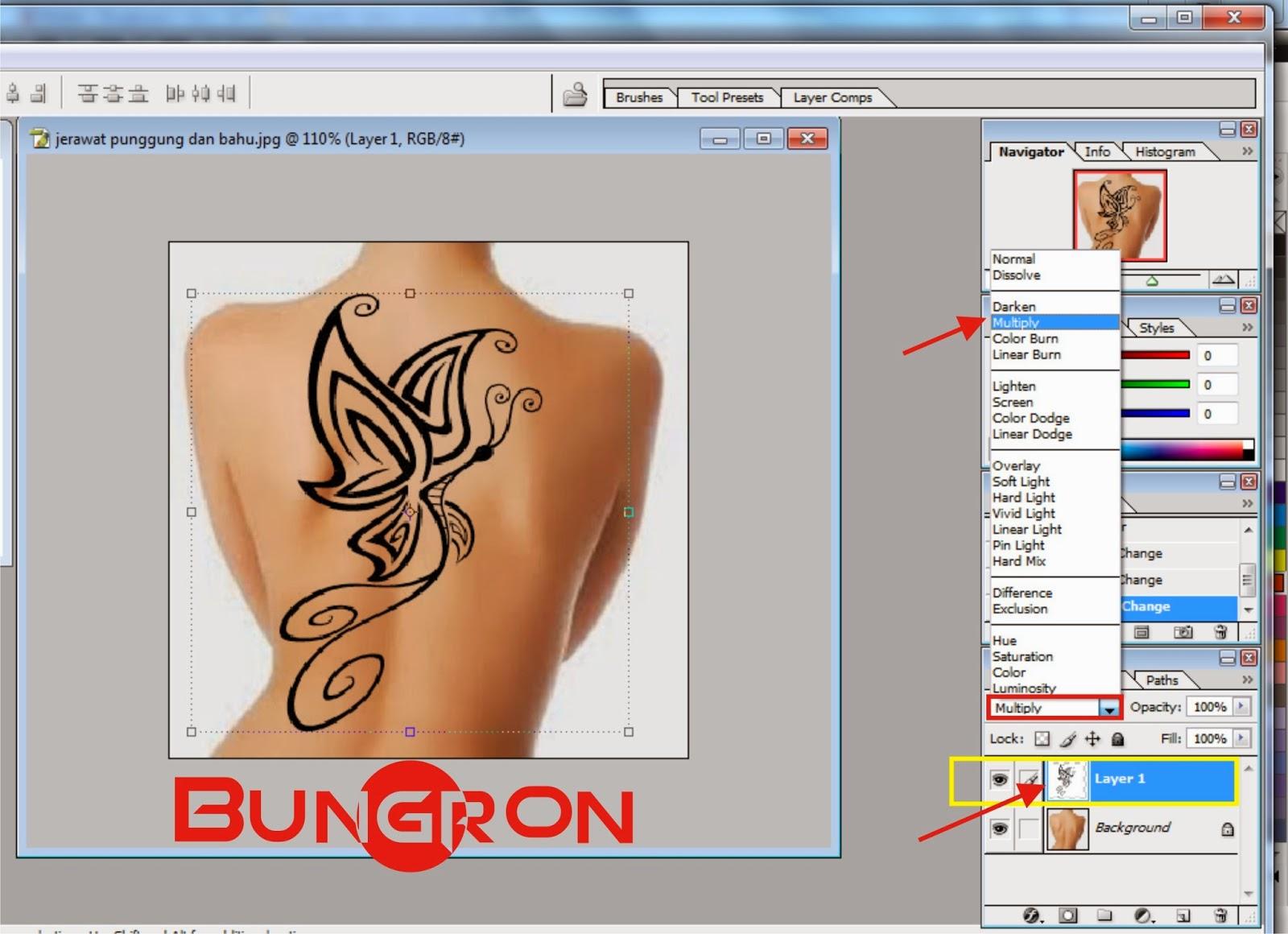 Cara Membuat Tato Permanen Di Punggung Dengan Photoshop