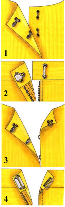 Как пришить крючки и кнопки к одежде