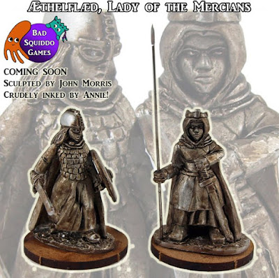 The Dice Bag Lady: New Lady of the Mercians Miniature