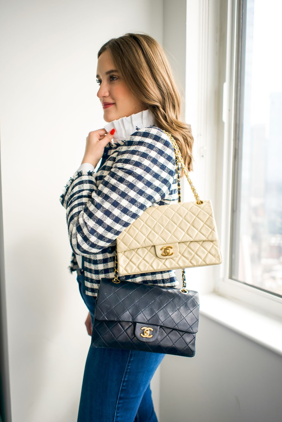 25e73bb95dbb Chanel Medium Double Flap Review + Tips for Buying Second Hand | New York  City Fashion and Lifestyle Blog | Covering the Bases