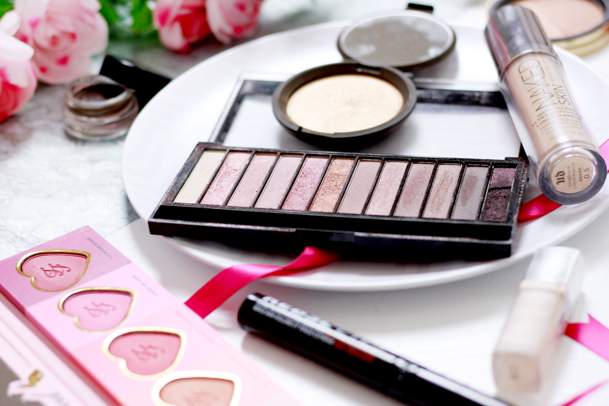 An image of spring make-up products