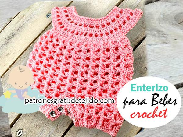 Enterizo O Pelele Para Bebé A Crochet Tutorial En Español