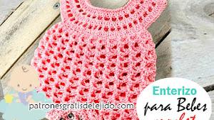 Enterizo o pelele para bebé a crochet / Tutorial en Español