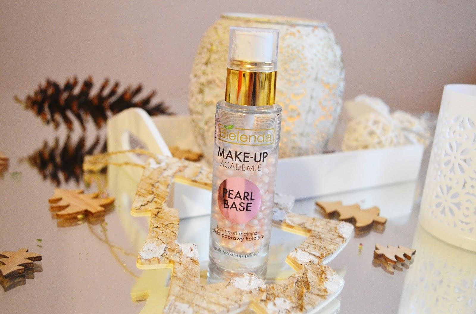 Bielenda, Make up Academie, pearl base, różowa baza pod makijaż - EFEKT POPRAWY KOLORYTU