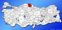Sinop ilinin Türkiye haritasında gösterimi