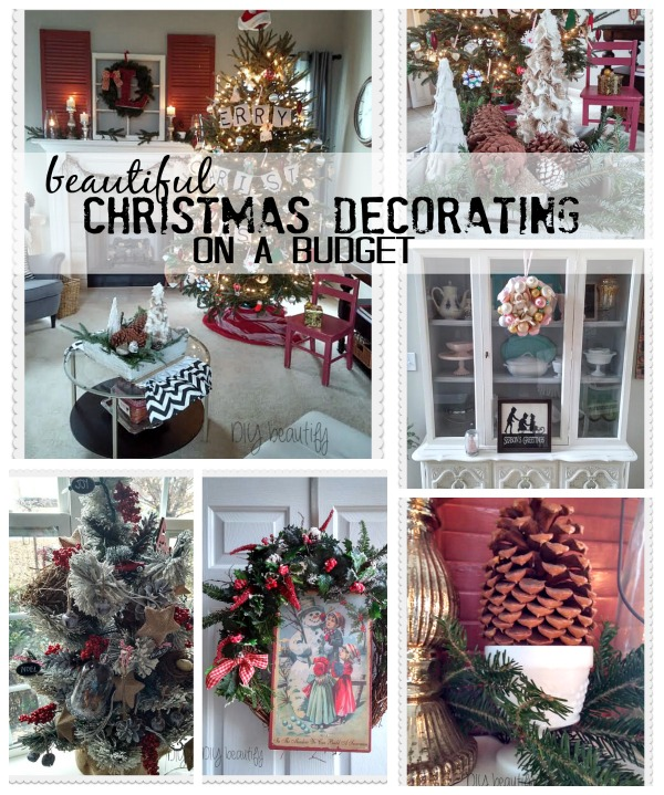 Christmas Decorating on a Budget at www.diybeautify.com