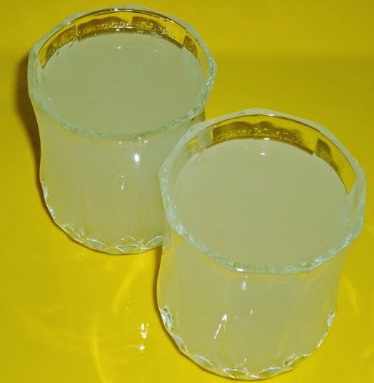 lemonade or sharbat in a serving glass