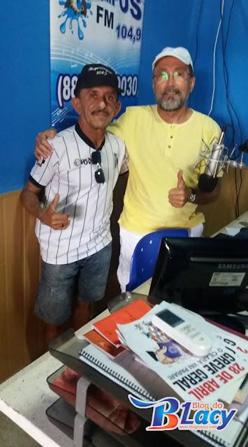 JUNIOR ABREU, É ENTREVISTADO NA RÁDIO LIMA CAMPOS FM