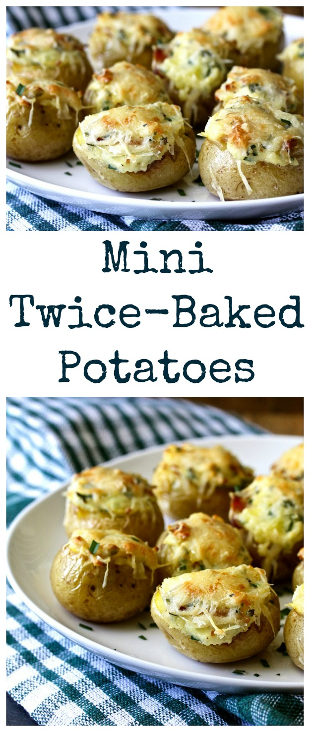 """These Mini Twice-Baked Potato Appetizers are are pretty much """"comfort food meets the cocktail hour."""""""