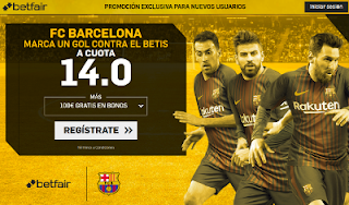 betfair supercuota Si Barcelona marca a Betis 21 enero
