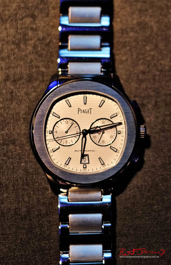 Piaget Polo S Chronograph -  Watch Launch - Beta Bar Sydney - Photographed by Kent Johnson for Street Fashion Sydney.