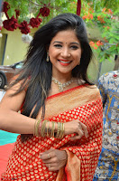 Sakshi Agarwal  in Orange Saree at Inauguration of Handloom And Handicraft exhibition ~  Exclusive 29.JPG