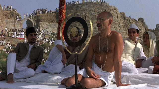 Ben Kingsley as Mahatma Gandhi in Richard Attenborough's Gandhi (1982)