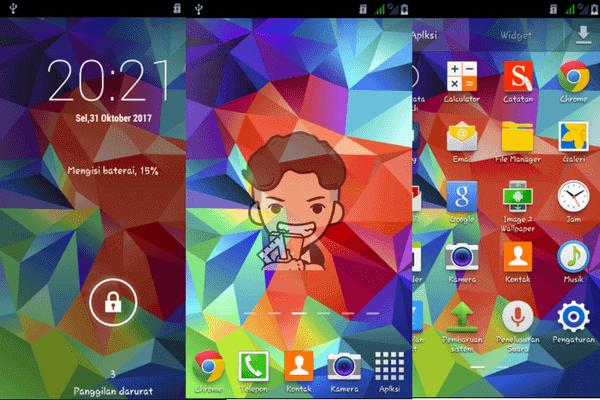 Cusrom Samsung S5 Unlock Dual GSM Smartfren Andromax G2