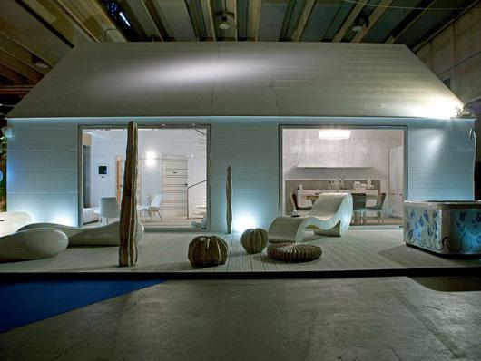 Design Interior Minimalis Casa de Madera prefabricada con el concepto moderno