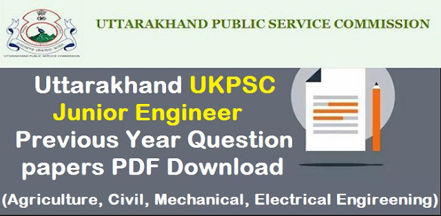 Junior Engineer(J.E) Exam 2013-Previous Year's Ques Papers UKPSC