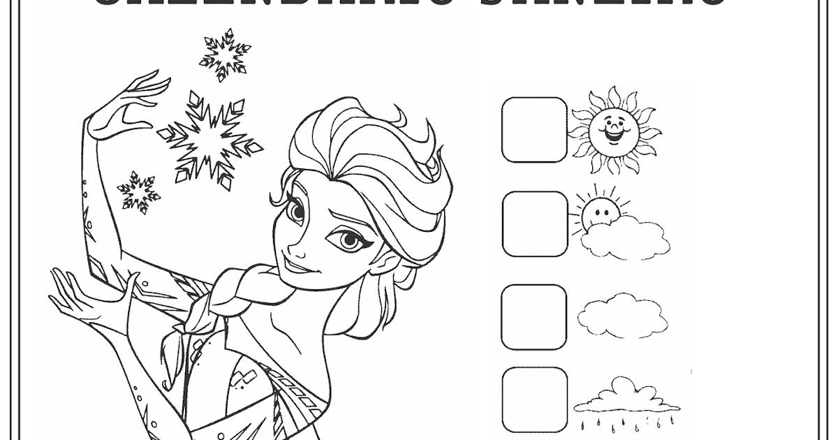 Desenho Para Colorir Frozen Uma Febre Congelante