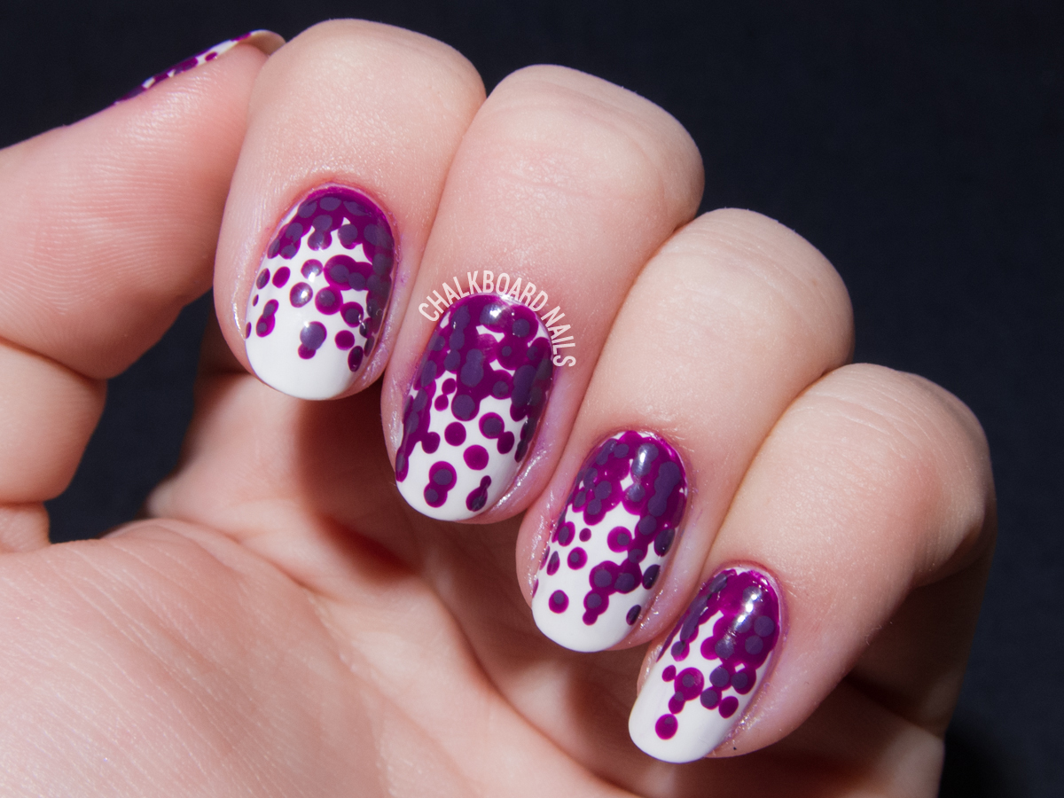 Orchid inspired nail art by @chalkboardnails