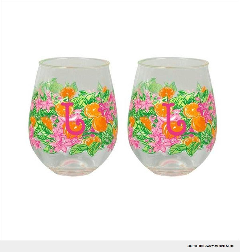 Best lilly pulitzer acrylic stemless wine glasses imagine