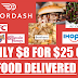 $25 of Food Delivered From Doordash For Only $8! They Have All Your Local Restaurants and Chains Too: Chipotle, Burger King, KFC, Dunkin Donuts, McDonald's, Subway and Thousands More