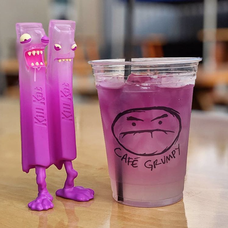 SDCC Andrew Bell Purple Drank Kill Kat Evil Wafers Vinyl Figure Pre Sale