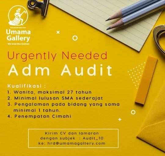 Loker Admin Audit Bandung