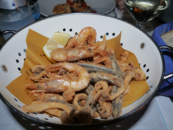 Seafood at Cantina di Miky, Cinque Terre, Italy
