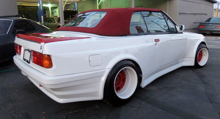 this 1987 bmw 325i convertible looks like a pregnant guppy. Black Bedroom Furniture Sets. Home Design Ideas