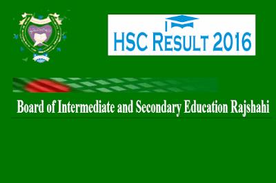 HSC result 2016 Rajshahi board