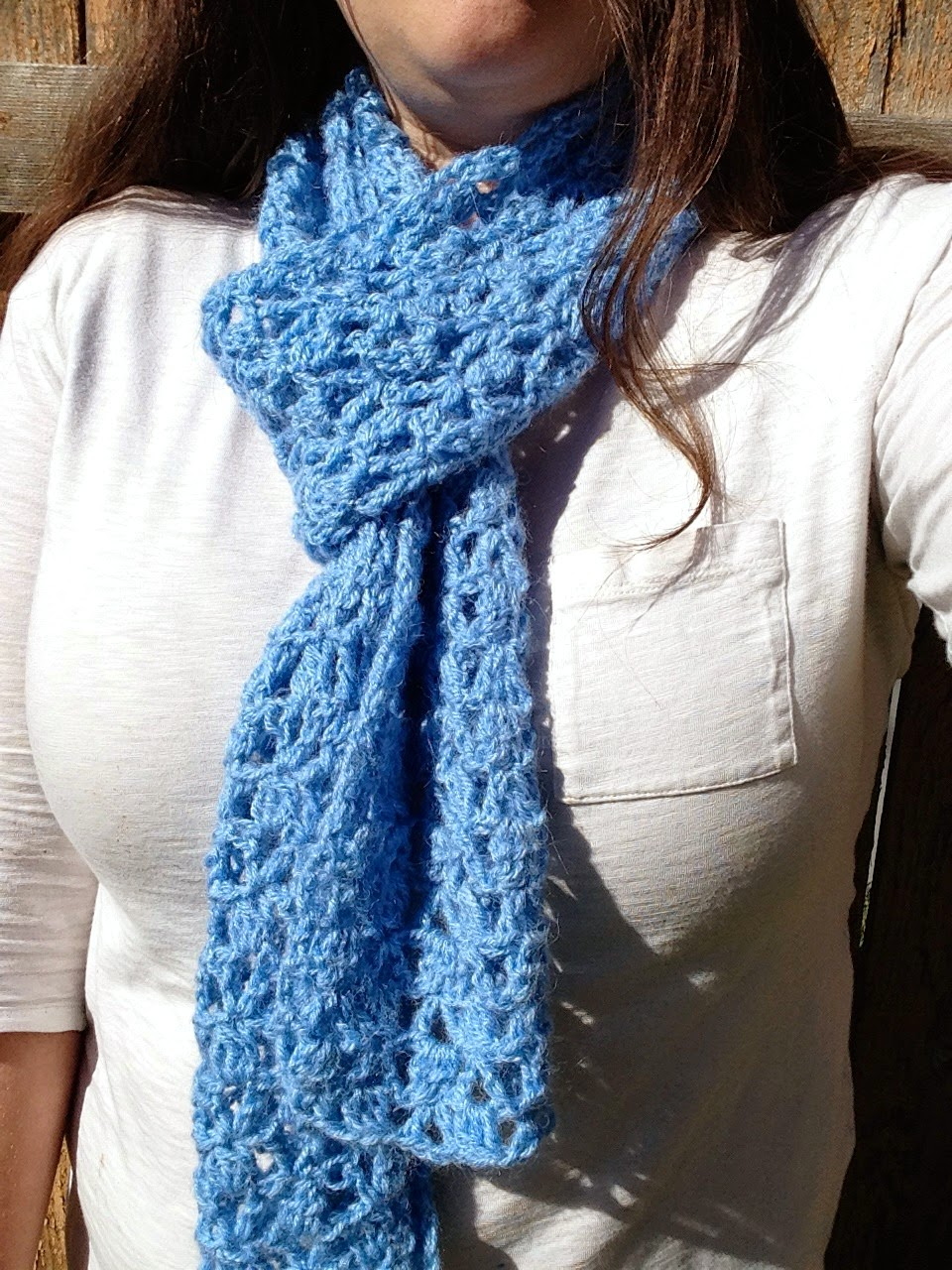 5 Little Monsters: Lace Cluster Scarf: A Free Crochet Pattern