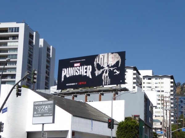 Punisher Netflix series billboard