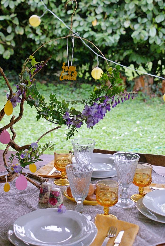 decorazione pasqua faidate tavola primavera