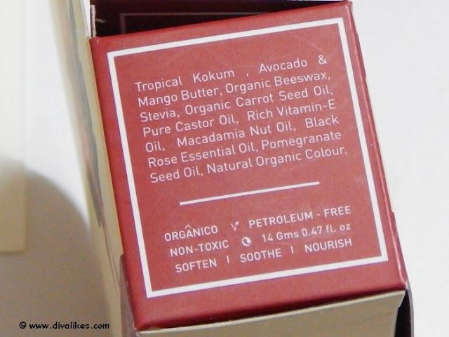 Island Kiss Black Rose and Grenade Rouge Lip Moisturiser Stain Ingredients