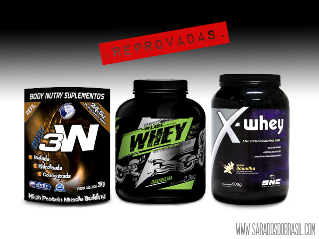Marcas de whey protein da Body Nutry, Perfect Labs e SNC