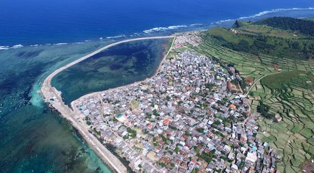 Đảo Lý Sơn nhìn từ trên cao