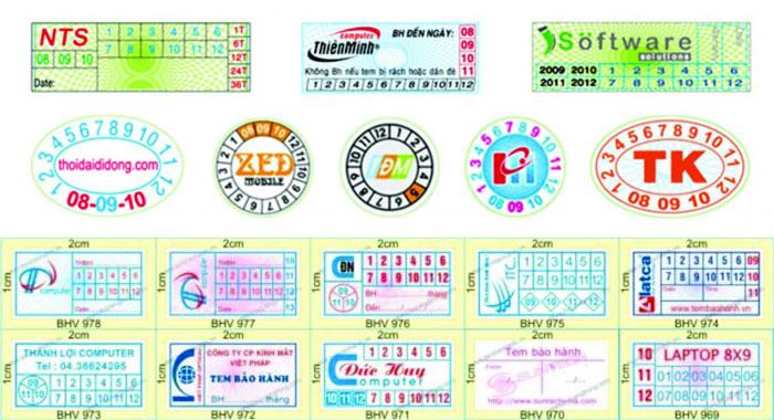 Quy trình in tem bảo hành hà nội, bạn đã biết?