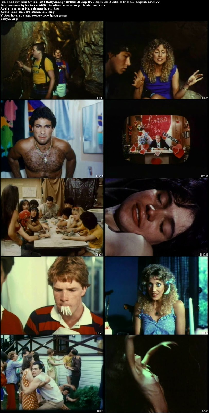 [18+] The First Turn-On 1983 DVDRip Hindi UNRATED Dual Audio 900Mb Download