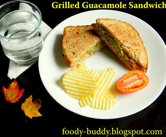 grilled guacamole sandwich