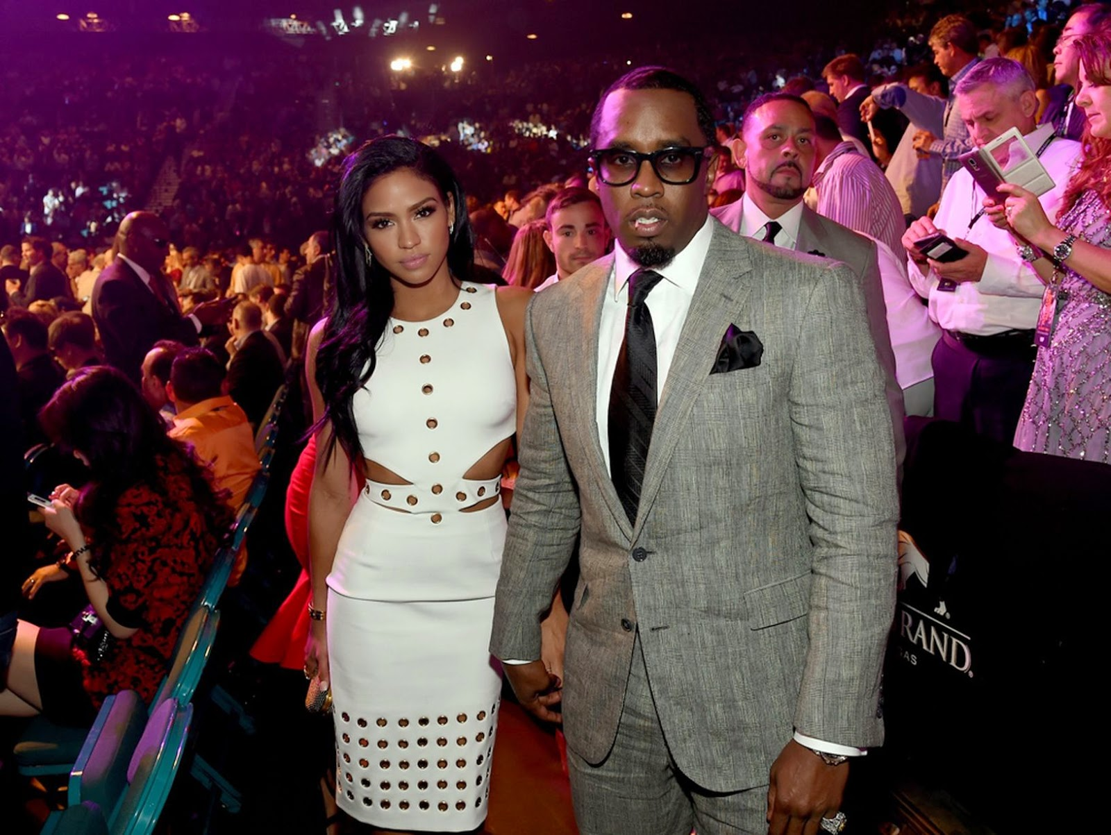 "Cassie Ventura & Sean ""Diddy"" Combs - Mayweather vs Pacquiao in Las Vegas"
