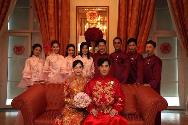 Tang Yan Luo Jin wedding entourage
