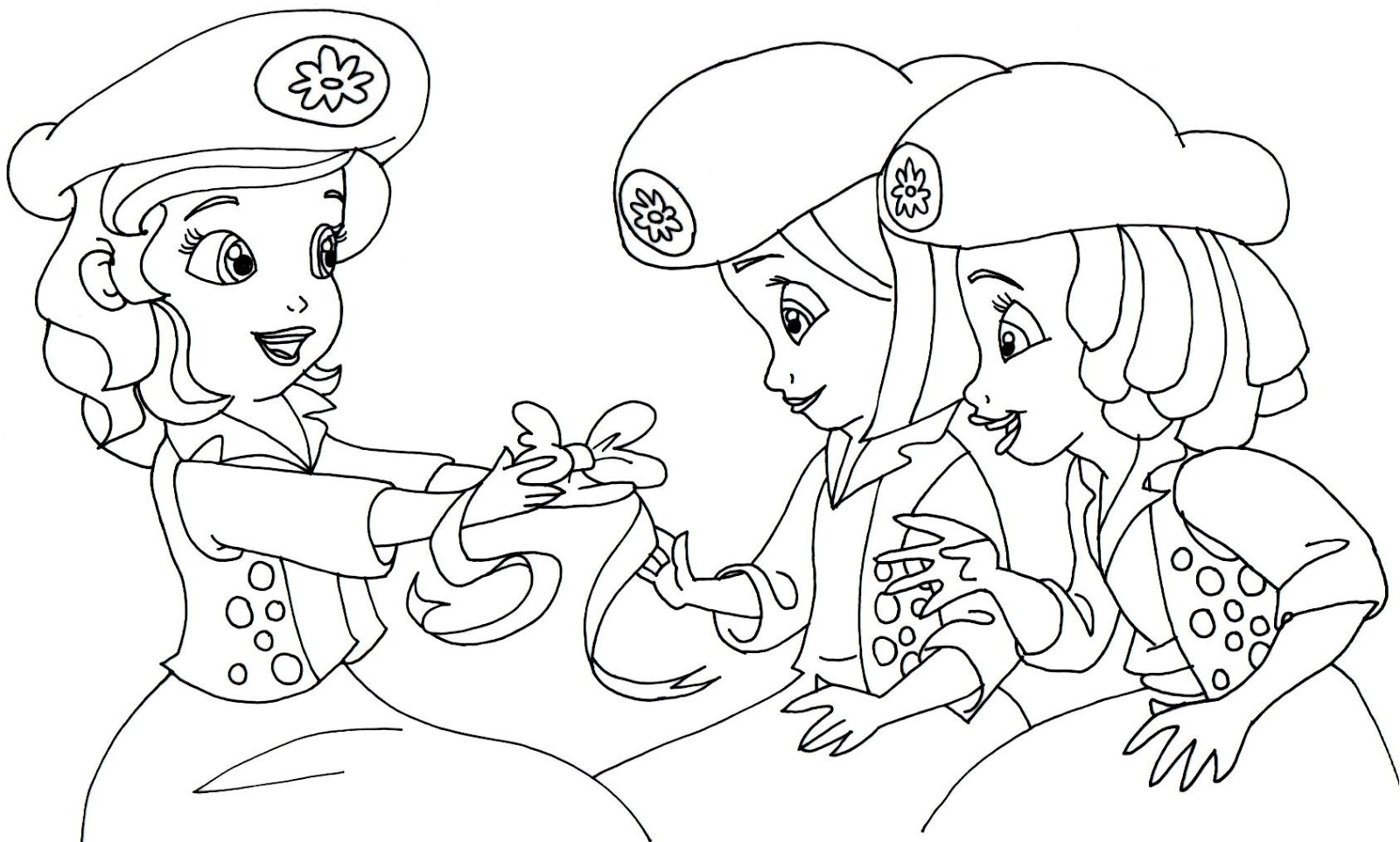 Sofia The First Coloring Pages: Buttercups Sofia the First