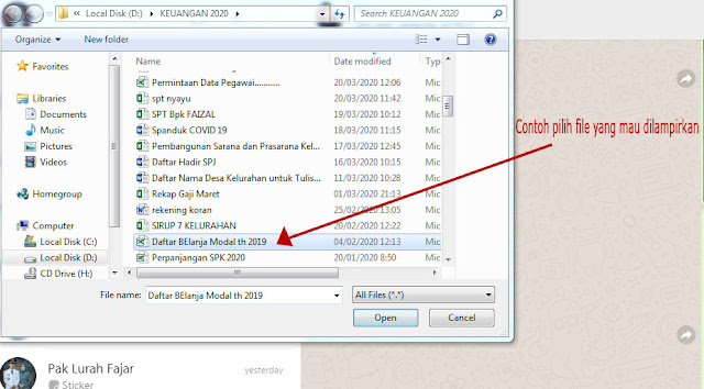 cara transfer file dokumen foto dari laptop ke hp