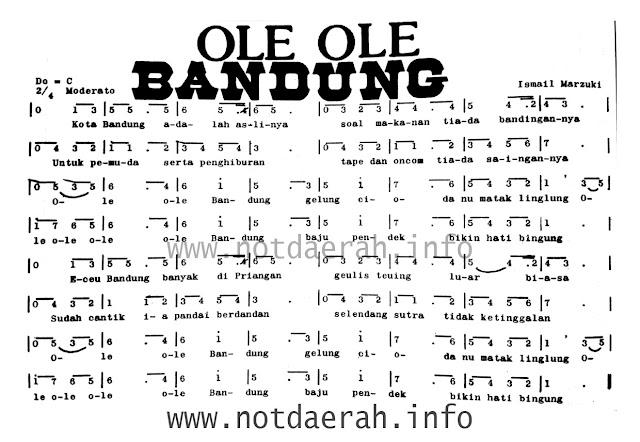 Not Angka Ole Ole Bandung