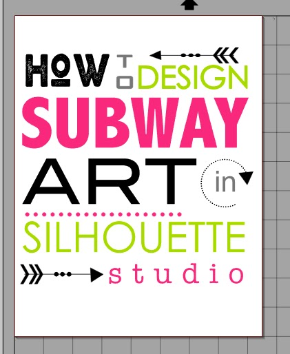 Secret to easily designing subway art in silhouette studio silhouette studio subway art fandeluxe Gallery