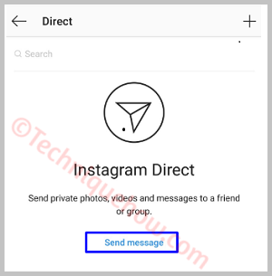 Send Direct Message on Instagram app
