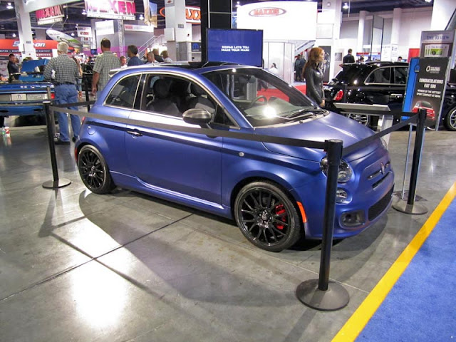 Fiat 500 from the Mopar booth at SEMA Show