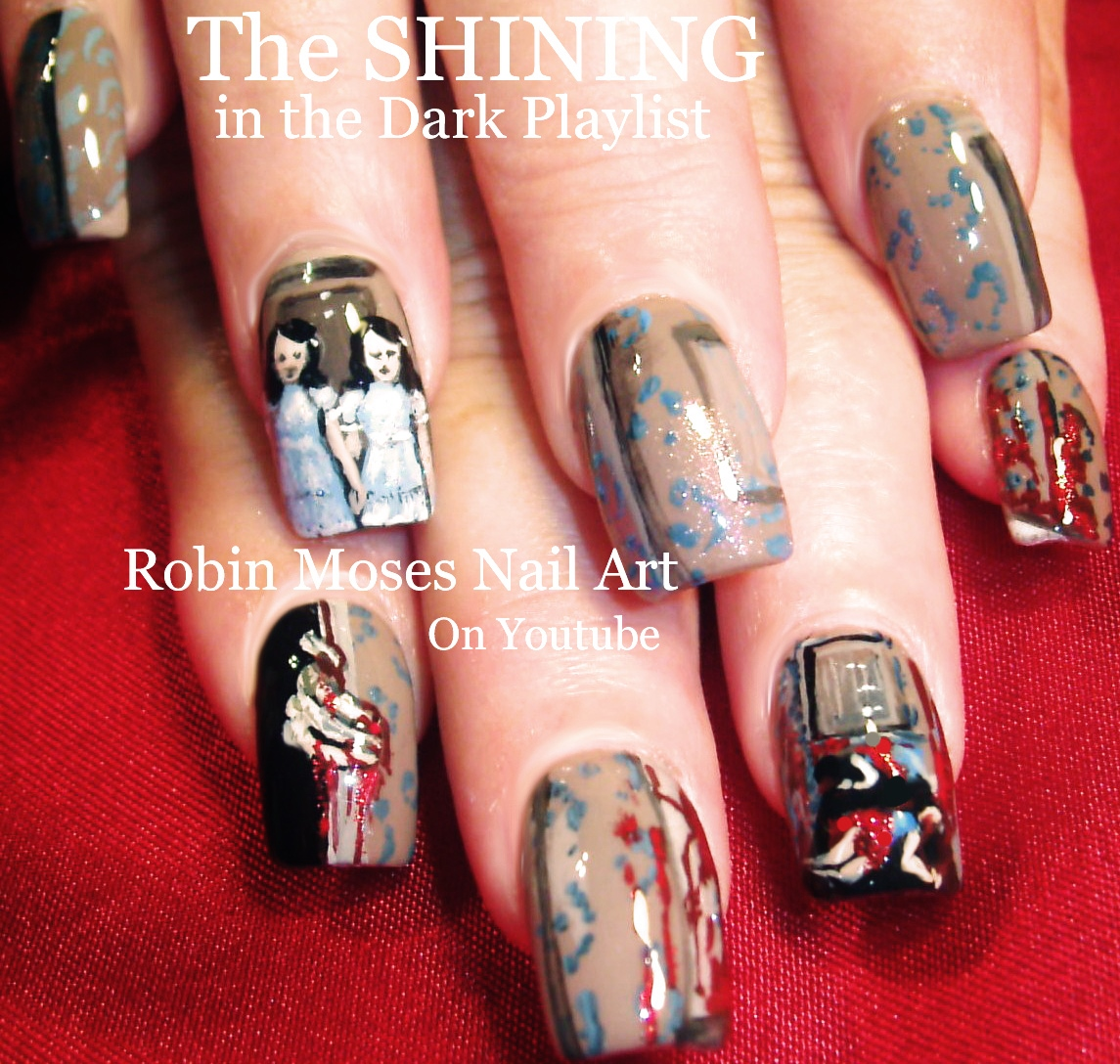 Nail Art By Robin Moses Horror Film Nail Art Playlist Scariest
