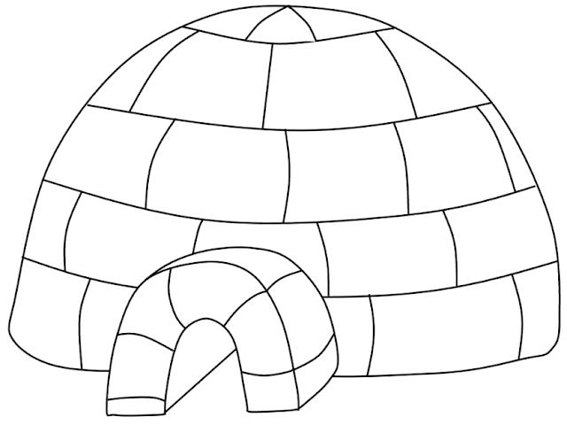 coloriage hiver igloo