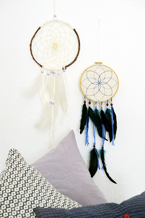 Embroidery Hoop Dreamcatcher | Unique Bohemian Gypsy Dreamcatchers Perfect For Homemade Gifts