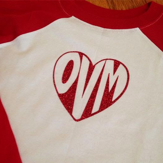 Silhouette Studio, word art, heart, love, raglan, monogram